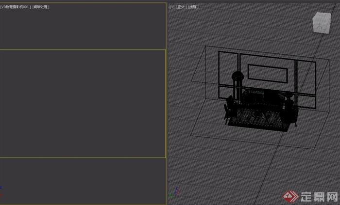 详细的室内沙发茶几组合素材设计3d模型