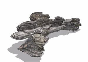 假山石头景石素材设计SU(草图大师)模型
