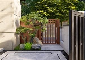 某别墅花园详细设计SU(草图大师)模型