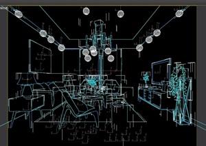 简约风格现代室内客厅装饰设计3d模型