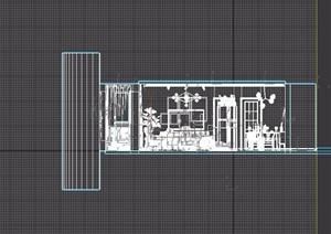 简约现代风格室内客厅空间3d模型