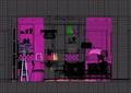 简约风格室内完整客厅装饰设计3d模型