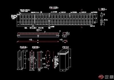 围墙栏杆围栏素材设计cad施工图
