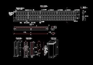 圍墻欄桿圍欄素材設計cad施工圖