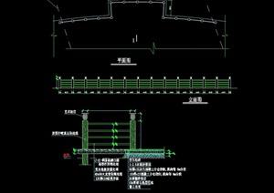 现代详细的围墙栏杆设计cad施工图