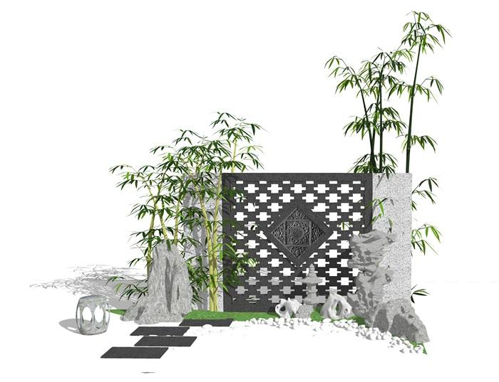 新中式庭院设计_中式庭院景观设计说明_中式庭院景观设计元素