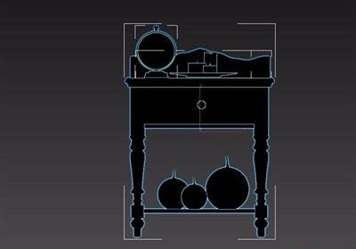 欧式风格室内床头柜素材设计3d模型