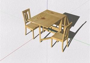 多种不同的详细餐桌椅组合设计SU(草图大师)模型