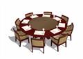 4种不同的详细餐桌椅设计su模型