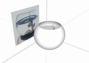 某详细的陈设展览装饰摆件素材设计SU(草图大师)模型