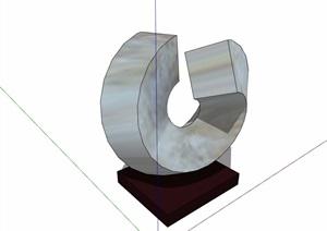 11种不同的装饰摆件素材设计SU(草图大师)模型