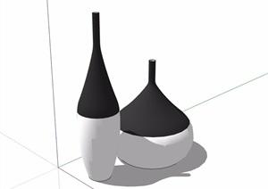 详细的室内装饰摆件素材设计SU(草图大师)模型