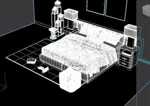 现代床具完整详细设计3d模型