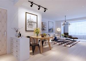 某详细的室内客厅装饰设计3d模型及效果图