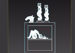詳細的完整室內柜子素材設計3d模型