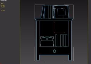 詳細的住宅室內柜子素材設計3d模型