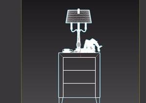 歐式室內床頭柜素材設計3d模型