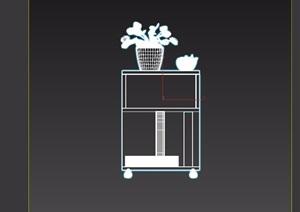 詳細的完整床頭柜素材設計3d模型