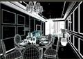 住宅客厅餐厅室内装饰3d模型