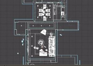 住宅空间室内完整客餐厅完整装饰3d模型