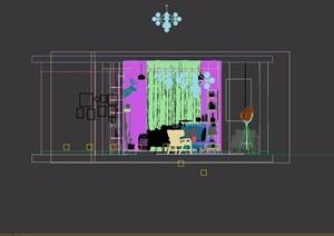 现代客厅住宅空间室内3d模型
