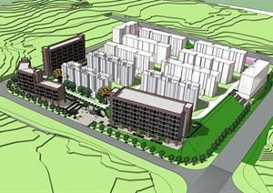 精品现代风格宿舍公寓模型