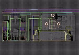 住宅空间客餐厅室内设计3d模型