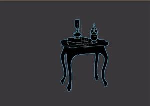 欧式新古典桌子素材设计3d模型