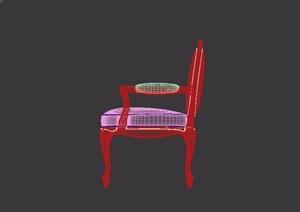 欧式椅子详细设计3d模型