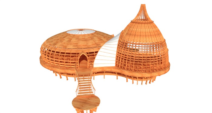 特色木屋su72套模型(2)