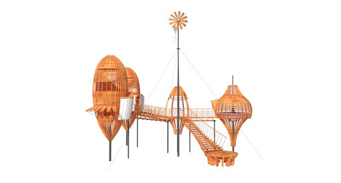 特色木屋su72套模型(5)