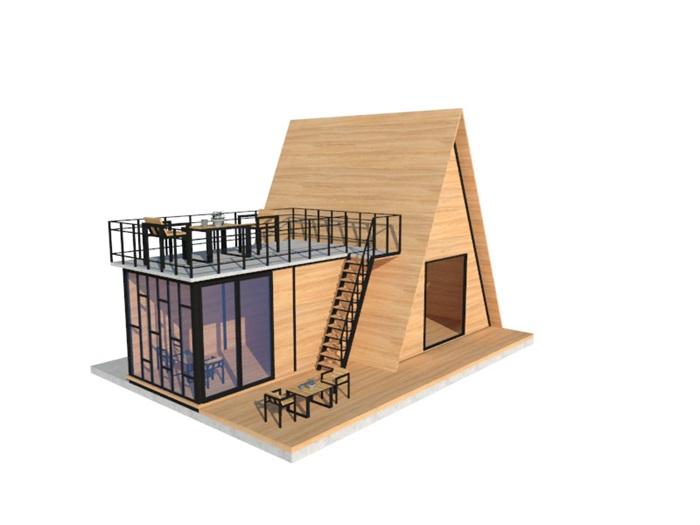 特色木屋su72套模型(4)