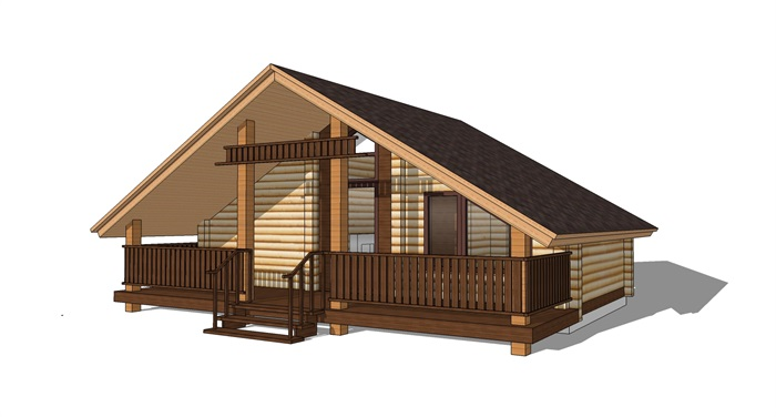 特色木屋su72套模型(11)