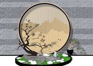 新中式禅意景观小品庭院小品
