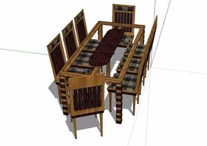 某室内餐桌椅素材设计SU(草图大师)模型