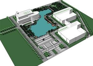 公园场景 (3)模型丰富详细,材质贴图清晰,具有很高的学习参考价值