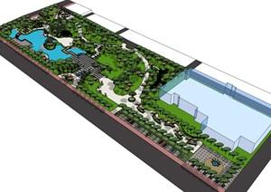 公园场景 (5)模型丰富详细,材质贴图清晰,具有很高的学习参考价值