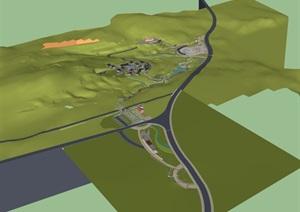 公园场景 (6)模型丰富详细,材质贴图清晰,具有很高的学习参考价值