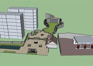 公园场景 (7)模型丰富详细,材质贴图清晰,具有很高的学习参考价值
