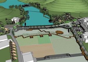公园场景 (11)模型丰富详细,材质贴图清晰,具有很高的学习参考价值