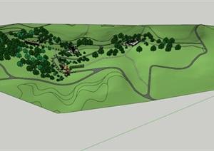 公园场景 (12)模型丰富详细,材质贴图清晰,具有很高的学习参考价值