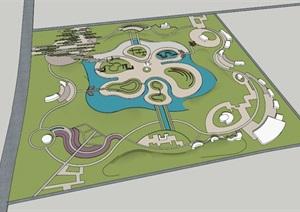 公园场景 (17)模型丰富详细,材质贴图清晰,具有很高的学习参考价值