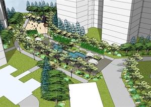 公园场景 (19)模型丰富详细,材质贴图清晰,具有很高的学习参考价值