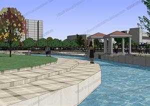 广场模型 (35)模型丰富详细,材质贴图清晰,具有很高的学习参考价值