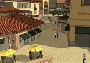 广场模型 (43)模型丰富详细,材质贴图清晰,具有很高的学习参考价值