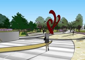 广场模型 (44)模型丰富详细,材质贴图清晰,具有很高的学习参考价值
