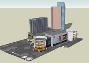 广场模型 (49)模型丰富详细,材质贴图清晰,具有很高的学习参考价值