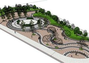 广场模型 (51)模型丰富详细,材质贴图清晰,具有很高的学习参考价值