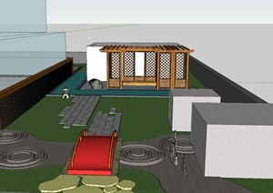 屋顶花园四合院,中式风格,具有参考价值