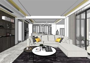 现代北欧风格轻奢住宅室内设计